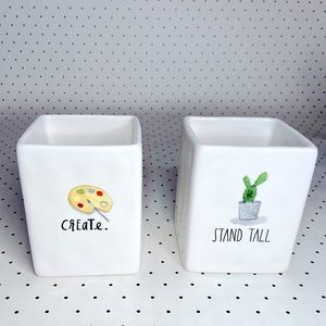 🎨RAE DUNN🎨 CREATE🌵STAND TALL🌵set 2 containers